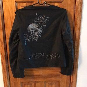 Ed Hardy Studded Zip Up Jacket